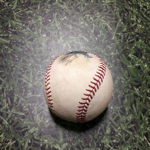Photo of Game-Used Baseball CHC@MIL 07/26/11 - Ryan Dempster - Nyjer Morgan: Strike
