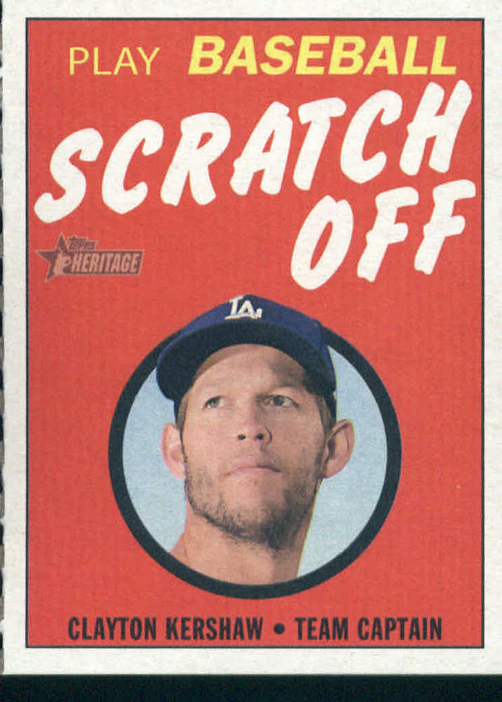 2019 Topps Heritage '70 Topps Scratch Offs #10 Clayton Kershaw