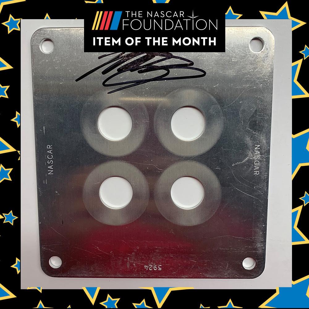NASCAR's Martin Truex Jr. Last Autographed Restrictor Plate!