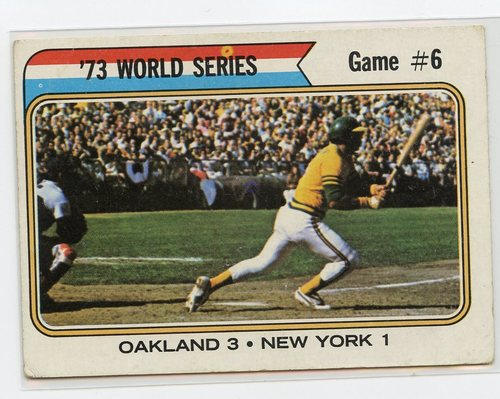 Photo of 1974 Topps #477 World Series Game 6/Reggie Jackson