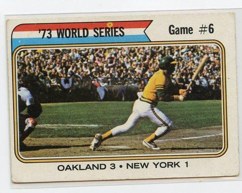Photo of 1974 Topps #477 World Series Game 6/Reggie Jackson