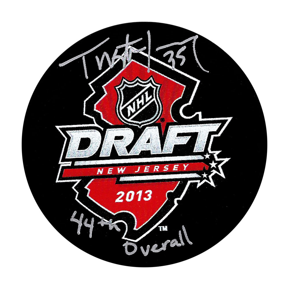 Tristan Jarry Autographed 2013 NHL Entry Draft Puck