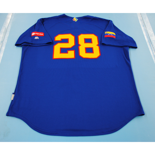 Photo of 2017 World Baseball Classic: Venezuela Batting Practice Jersey #28 - Robinson Chirinos - Size XL