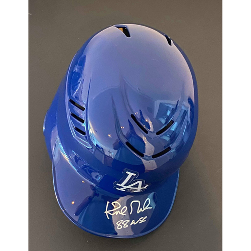 "Photo of Kirk Gibson ""88 WSC"" Autographed Authentic Dodgers Batting Helmet"