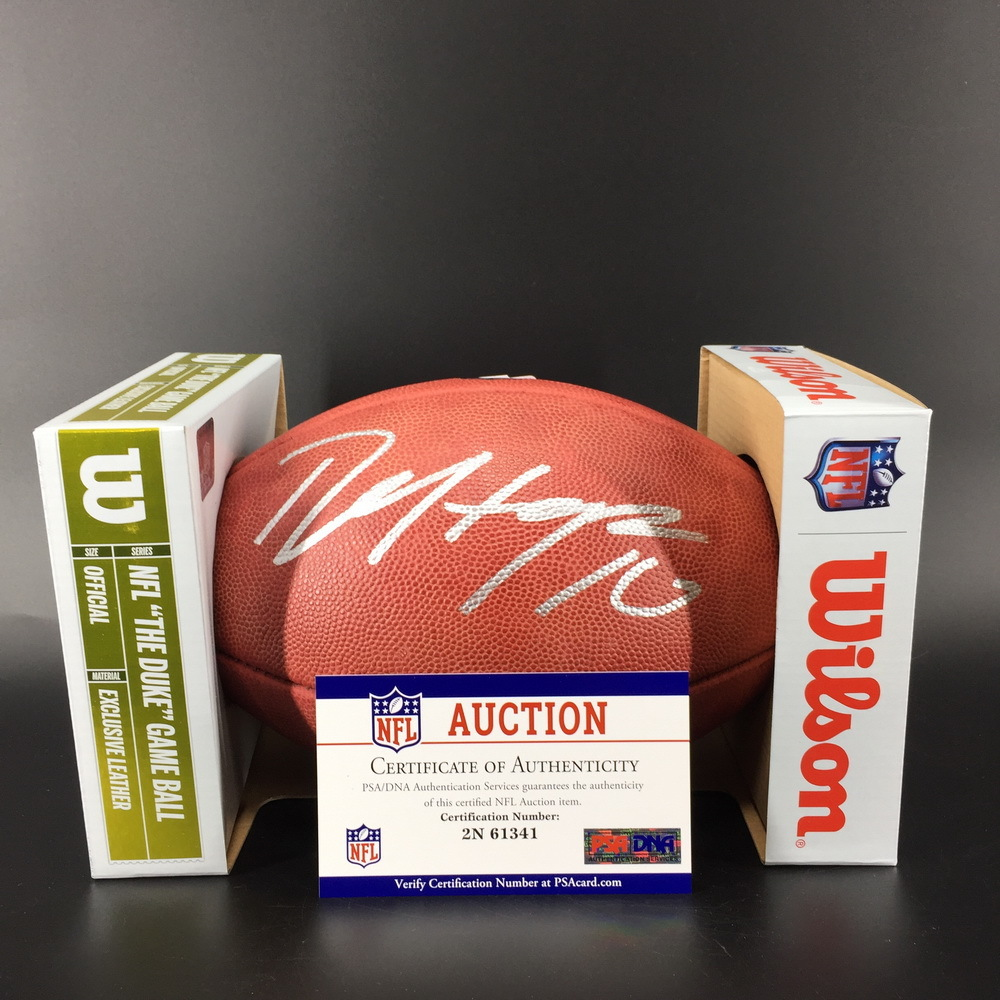 NFL - Cardinals DeAndre Hopkins Signed Authentic Football W/ 100 Seasons Logo