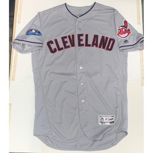 Mark Budzinski Team Issued 2018 Postseason Road Jersey
