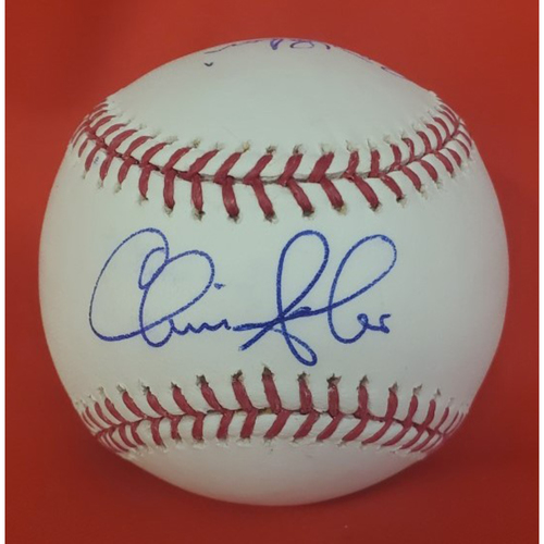 Photo of Chris Sabo & Pedro Borbon 2010 Induction Autographed Baseball  (Sabo On Sweet Spot)