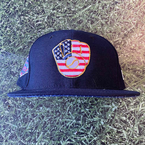Photo of Game-Used 2018 Cap: #8 Ryan Braun Stars & Stripes