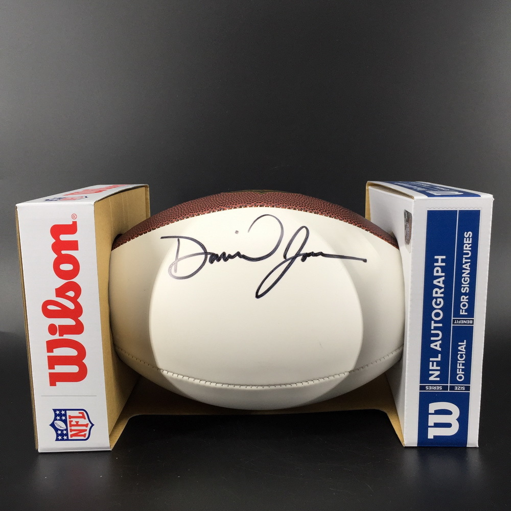 NFL - Giants Daniel Jones Signed Panel Ball