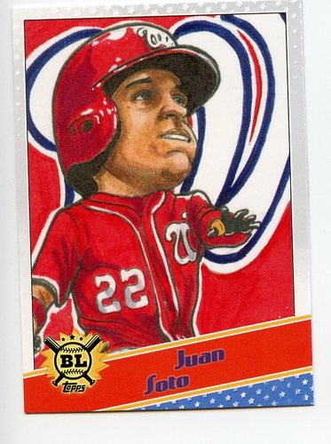 Photo of 2020 Topps Big League Star Caricature Reproductions #SCOJS Juan Soto