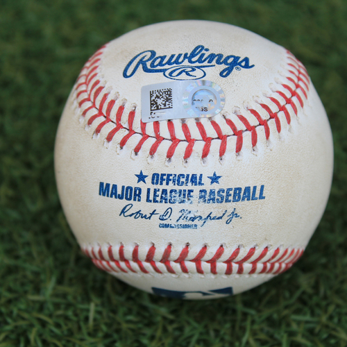 Photo of Game-Used Baseball: Tyler Naquin 31st Career Home Run (CLE @ KC 9/2/20)