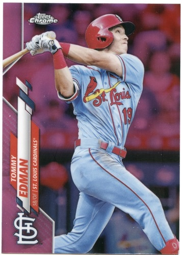 Photo of 2020 Topps Chrome Pink Refractors #94 Tommy Edman