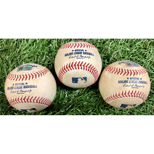 Photo of Game Used Baseball Package: Manuel Margot, Mike Zunino and Randy Arozarena - September 26, 2020 v PHI