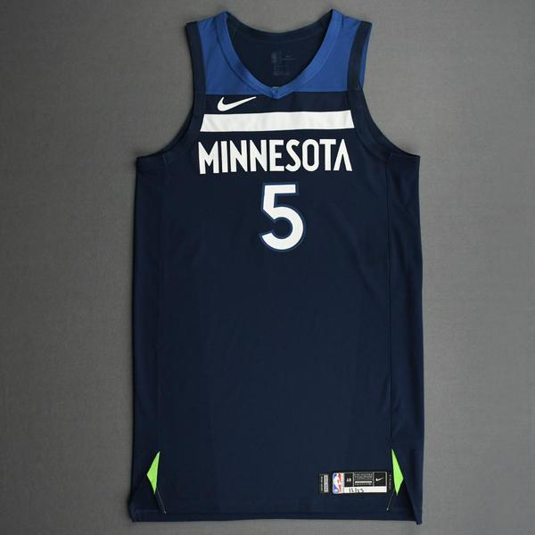 Image of Malik Beasley - Minnesota Timberwolves - Kia NBA Tip-Off 2020 - Game-Worn Icon Edition Jersey - Scored Game-High 23 Points