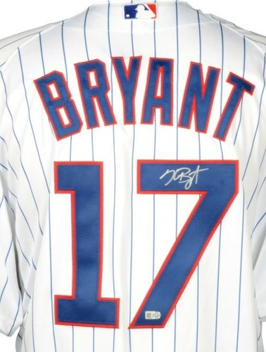 Photo of Kris Bryant Autographed Authentic Cubs Jersey - White