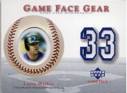 Photo of 2003 Upper Deck Game Face Gear #LW Larry Walker Jersey