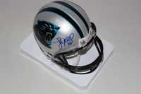 PANTHERS - LUKE KUECHLY SIGNED PANTHERS MINI HELMET