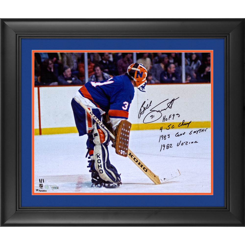 Billy Smith New York Islanders Framed Autographed 16