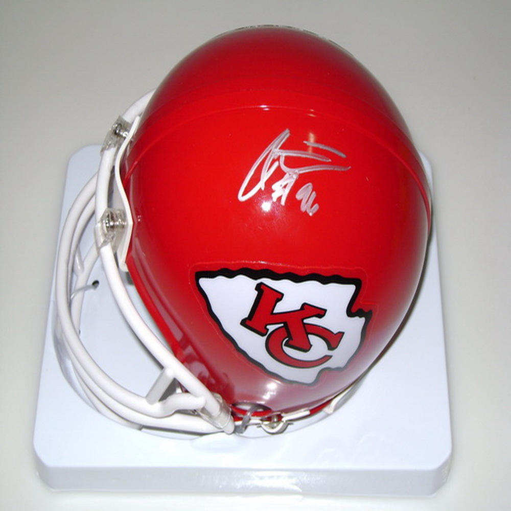 CHIEFS - JAYE HOWARD SIGNED CHIEFS MINI HELMET