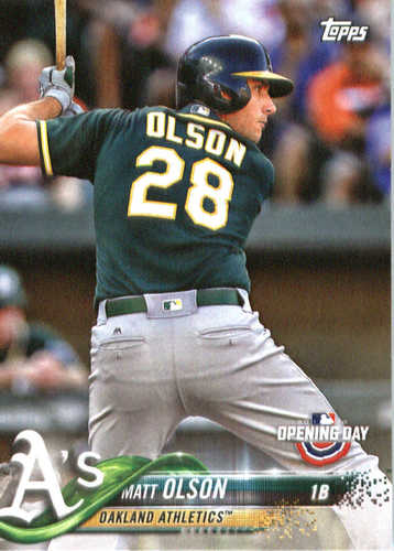 Photo of 2018 Topps Opening Day #179 Matt Olson