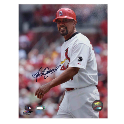Photo of Cardinals Authentics: Jose Oquendo Autographed 8 x 10 Photo
