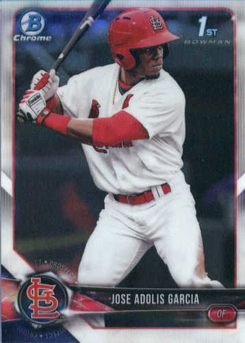 Photo of 2018 Bowman Chrome Prospects #BCP121 Jose Adolis Garcia