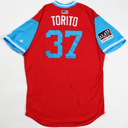 "Photo of Odubel ""Torito"" Herrera Philadelphia Phillies Game-Used Jersey 2018 Players' Weekend Jersey"