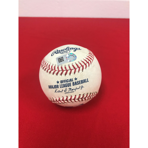 Photo of Game-Used Baseball - Juan Soto Double - 9/1/2018