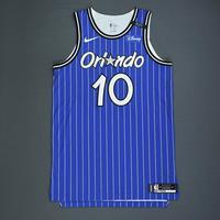 Evan Fournier - Orlando Magic - Game-Worn Classic Edition 1994-98 Alternate Road Jersey - Worn in 5 Games - 2018-19 Season