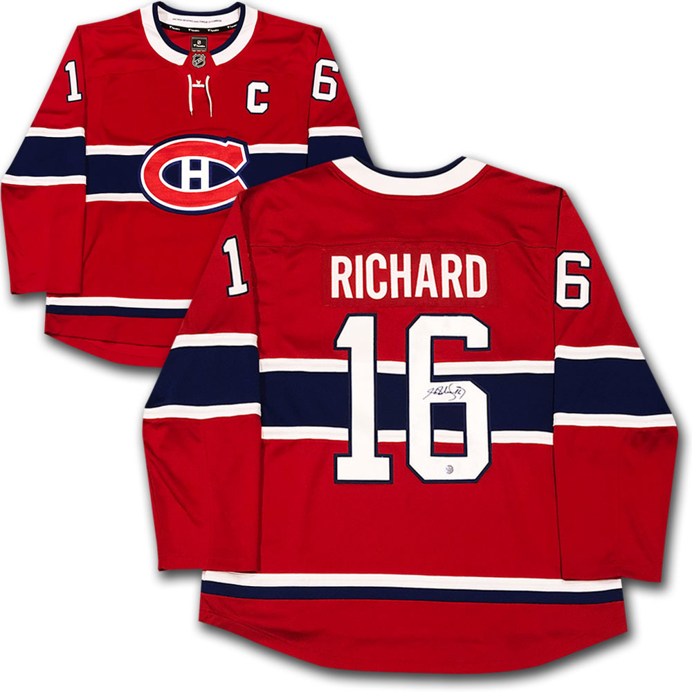 Henri Richard Autographed Montreal Canadiens Jersey