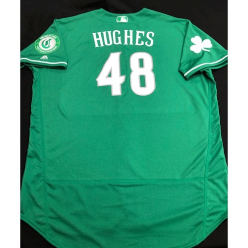 Photo of Jared Hughes -- Game-Used Jersey -- 2019 St. Patrick's Day
