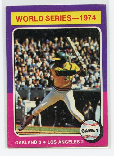 Photo of 1975 Topps #461 World Series Game 1/Reggie Jackson