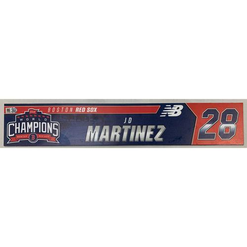 Photo of JD Martinez Game Used June 9, 2019 Locker Tag