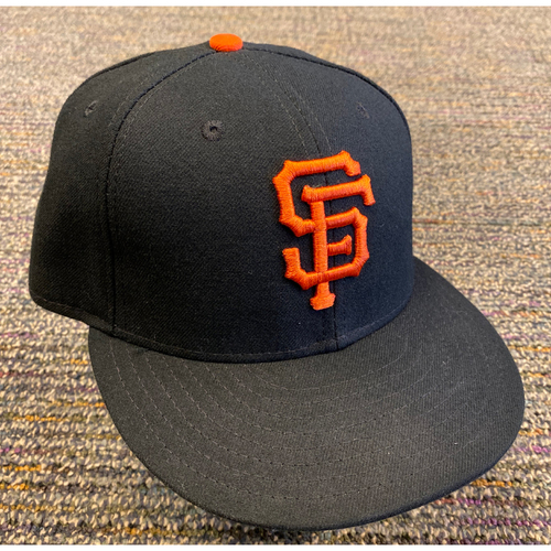 Photo of 2019 Game Used Regular Season Cap worn by #34 Mike Gerber on 9/29 vs. LAD - Bruce Bochy's Final Game - Size 7