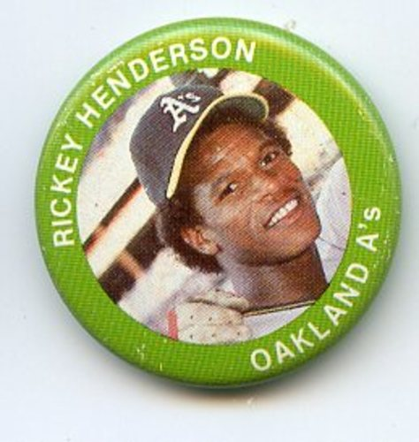 Photo of 1984 Fun Foods Pins #17 Rickey Henderson