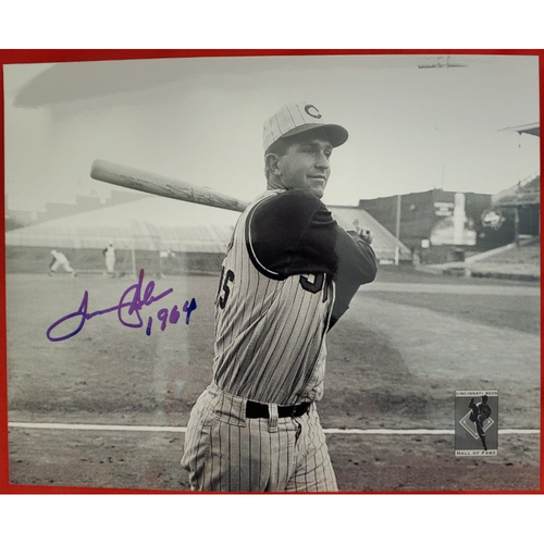 Photo of Tommy Helms Autographed Photo (Black & White)