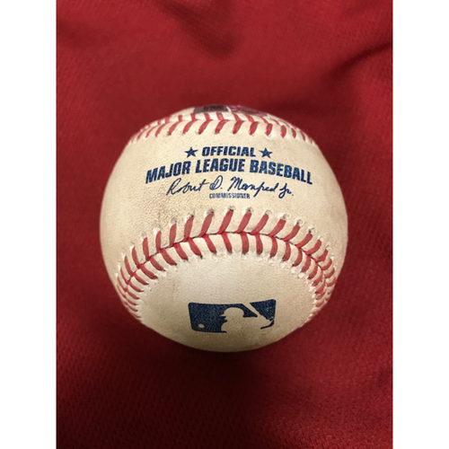 8/5/20 Game-Used Baseball: Christian Walker Hits Ground-Rule Double