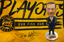 Photo of Dan Watson Autographed Bobblehead & T-shirt