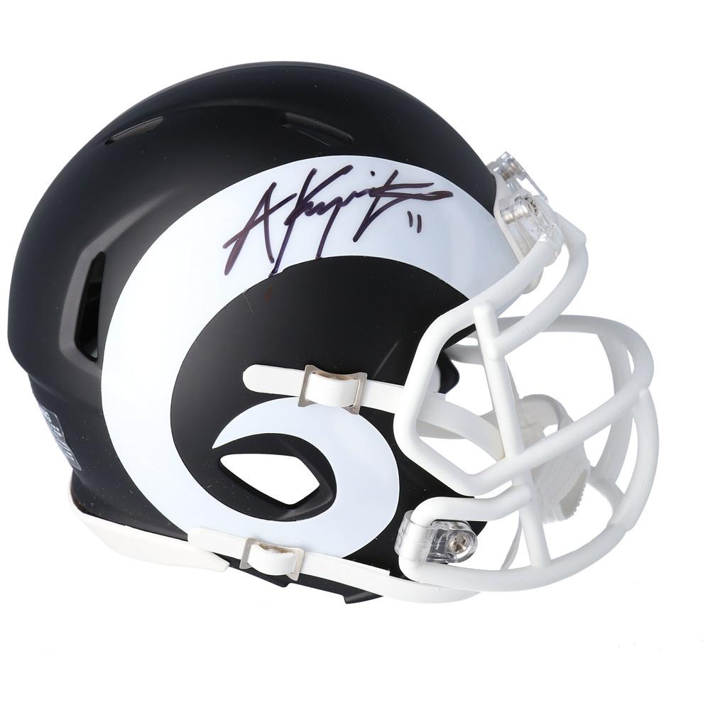 Anze Kopitar Los Angeles Kings Autographed Los Angeles Rams Black Matte Mini Helmet - NHL Auctions Exclusive