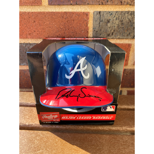 Photo of Dansby Swanson MLB Authenticated Autographed Mini Helmet