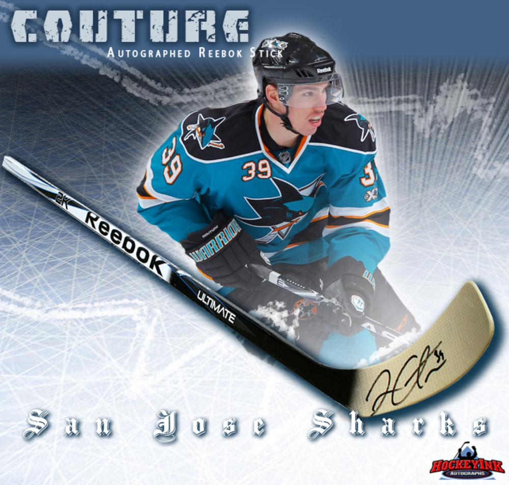 LOGAN COUTURE Signed Reebok Stick - San Jose Sharks