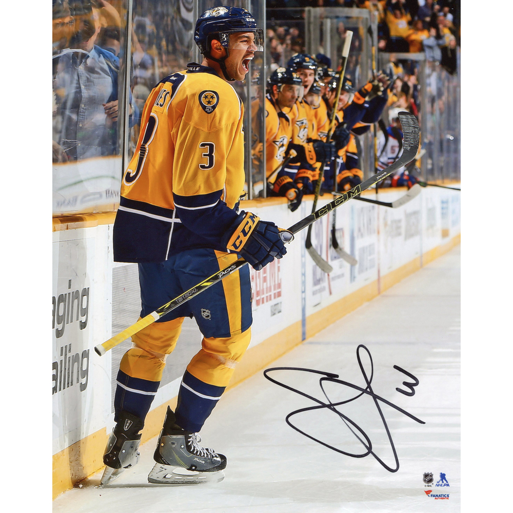 Seth Jones Nashville Predators Autographed Goal Celebration 8