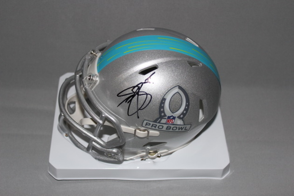 NFL - VIKINGS ANTHONY BARR SIGNED 2017 PRO BOWL MINI HELMET