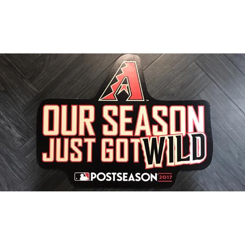 2017 Wild Card Stadium Sign