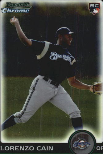 Photo of 2010 Bowman Chrome Draft #BDP56 Lorenzo Cain  Rookie Card