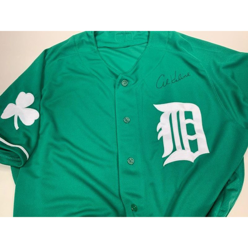 Photo of Autographed St. Patrick's Day Jersey: Al Kaline