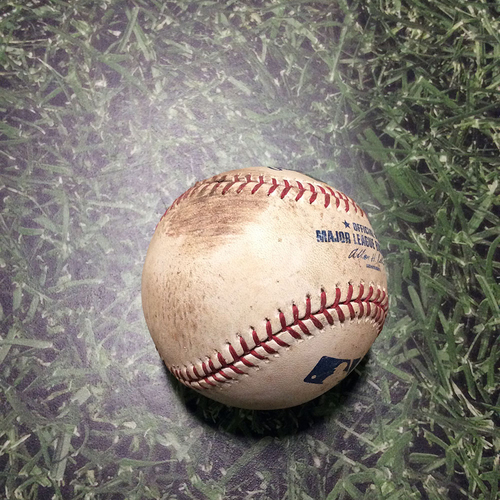 Photo of Game-Used Baseball PIT@MIL 08/12/11 - Paul Maholm - Prince Fielder: Ball
