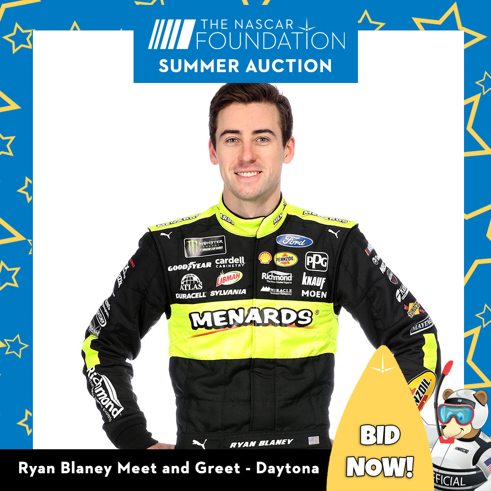 NASCAR's Ryan Blaney Meet & Greet All Access Garage Passes Package!