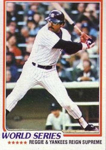 Photo of 1978 Topps #413 World Series/Reggie Jackson