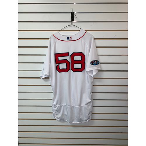 Photo of Andy Barkett Game Used April 5, 2018 Home Jersey